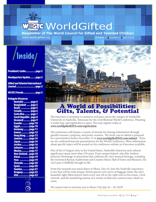 World Gifted Newsletter 37(1)